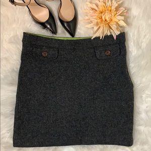 Boden Gray Wool Skirt